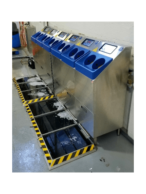Wetted Boot Dip Enhancement for Footwear Hygiene in Food Processing