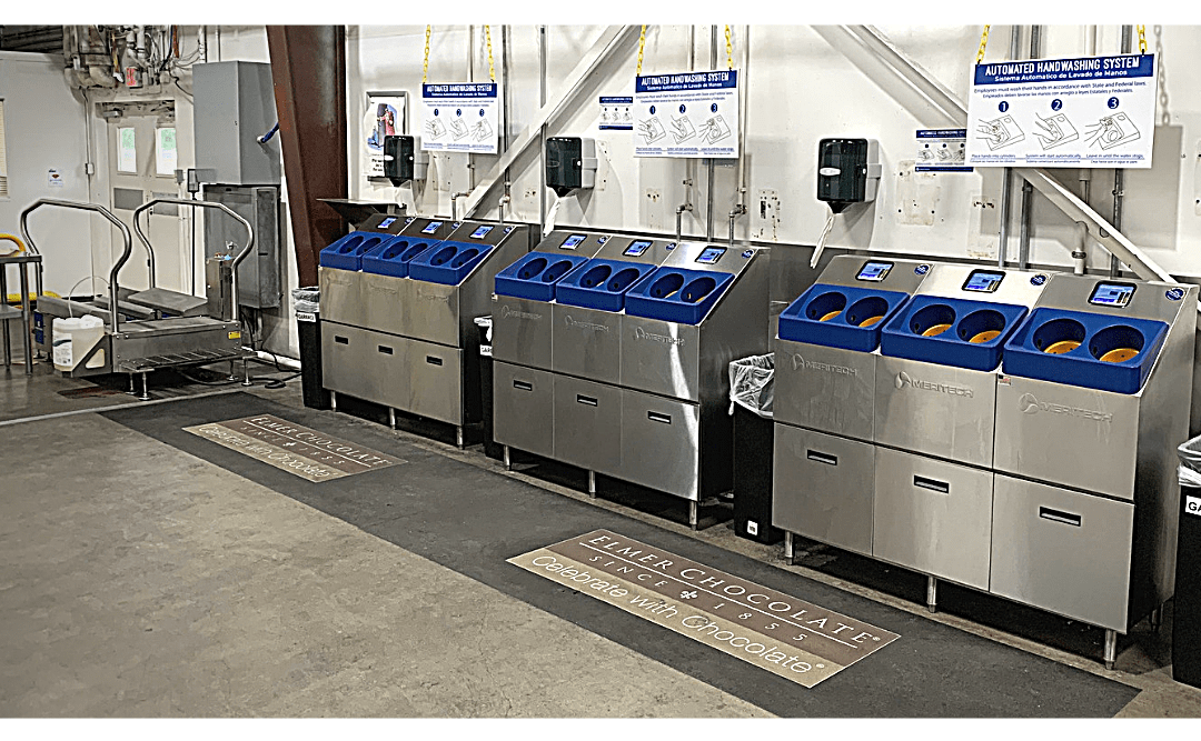4000S Industrial Hand Washers and XBW Boot Washer at Elmer Candy Company