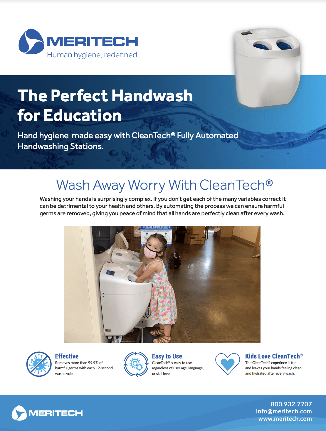 CleanTech® for Childcare and Education One-Pager
