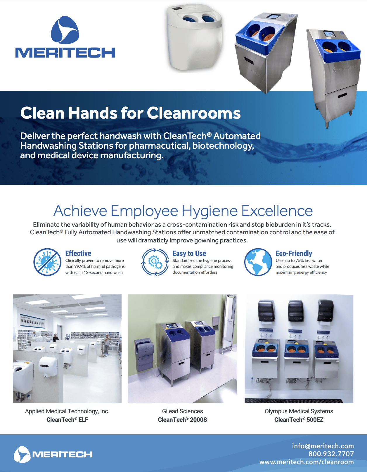 CleanTech® One-Pager for Pharmaceutical Manufacturing