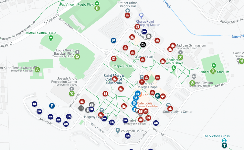 st marys campus map Campus Map Saint Mary S College st marys campus map