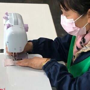 Testing the new sewing machine and how to make masks