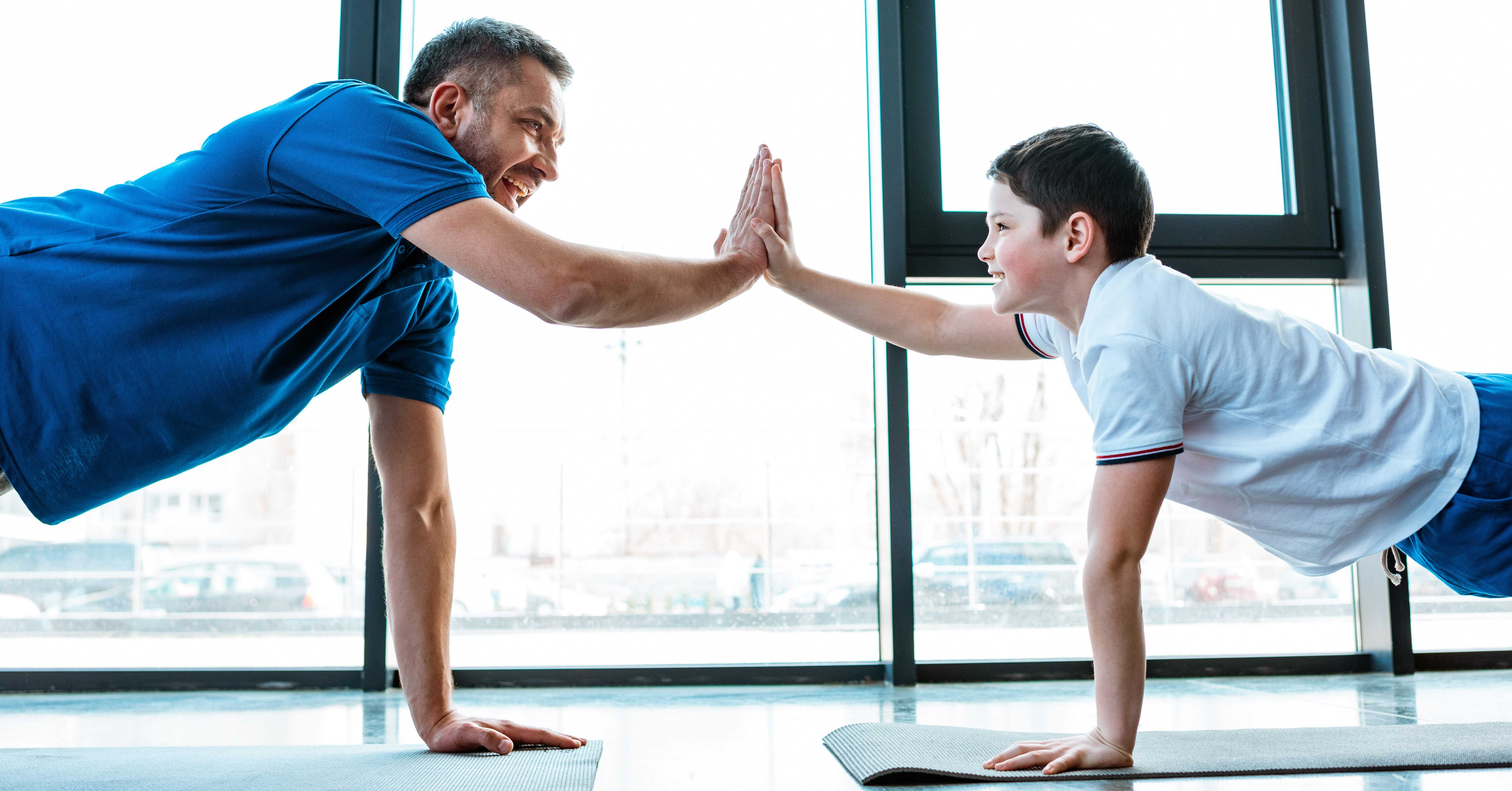 get involved with your kids during exercise to make it fun