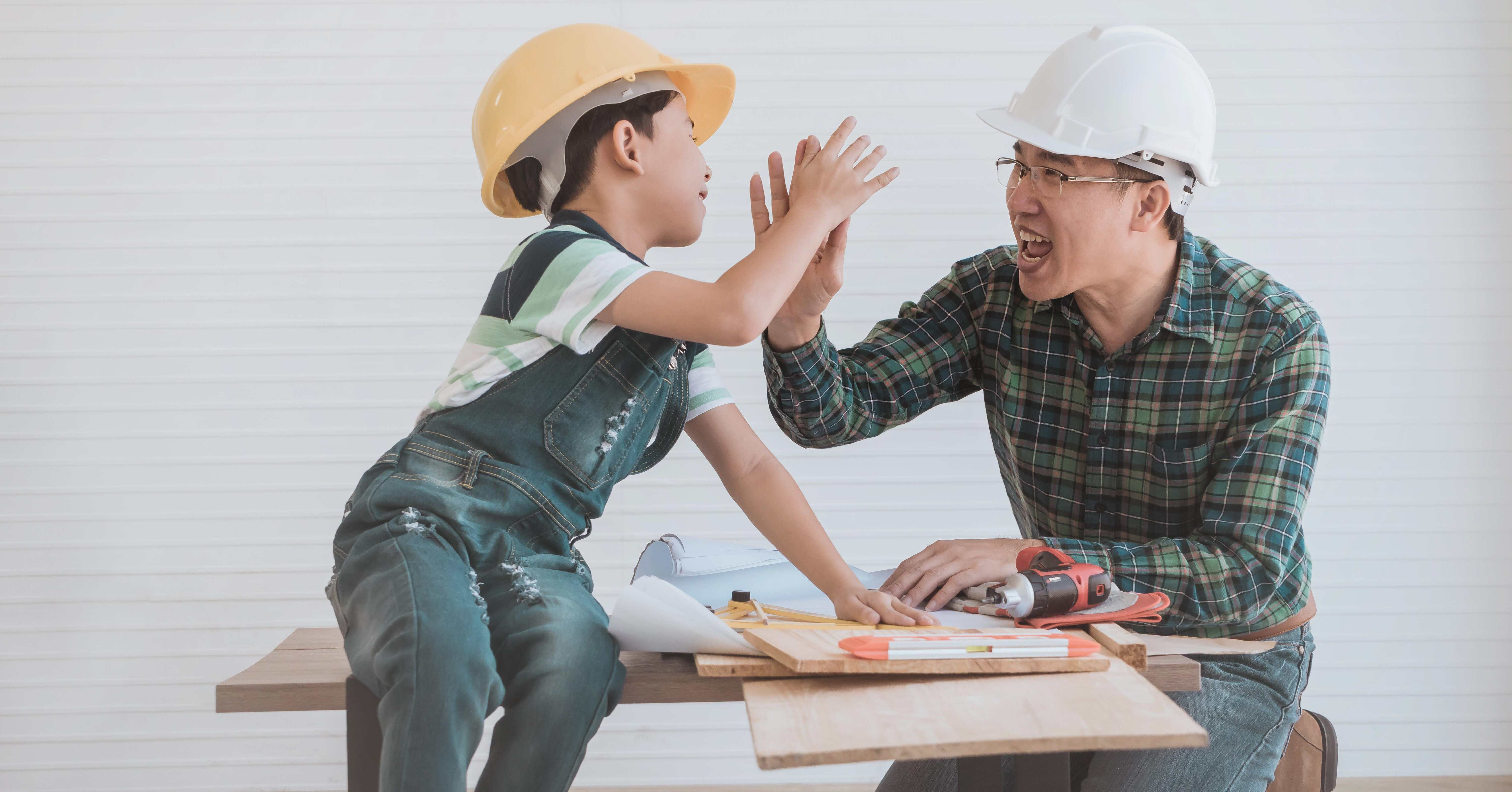 stay positive when renovating your home with kids