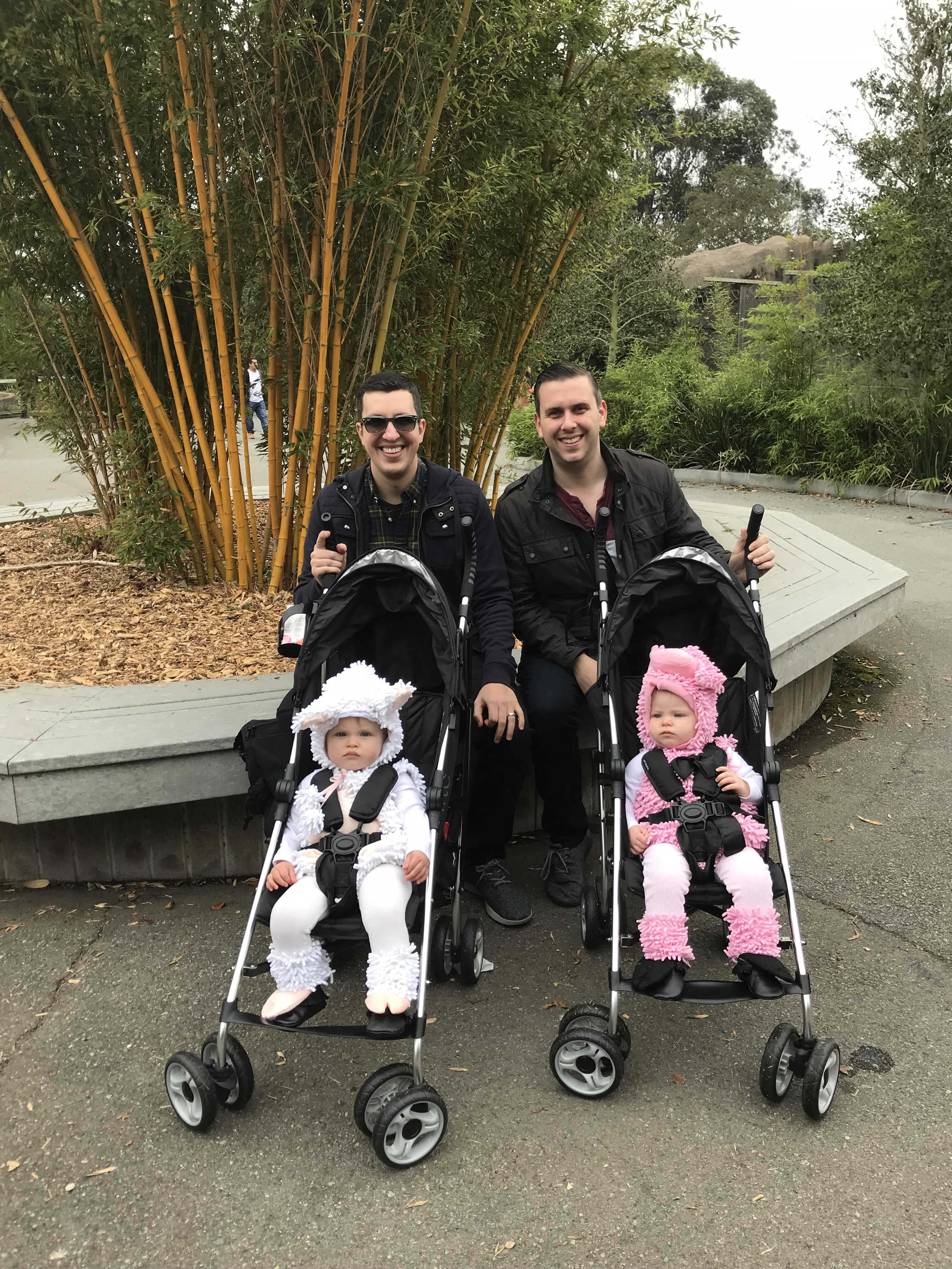 tim and josh with their kids
