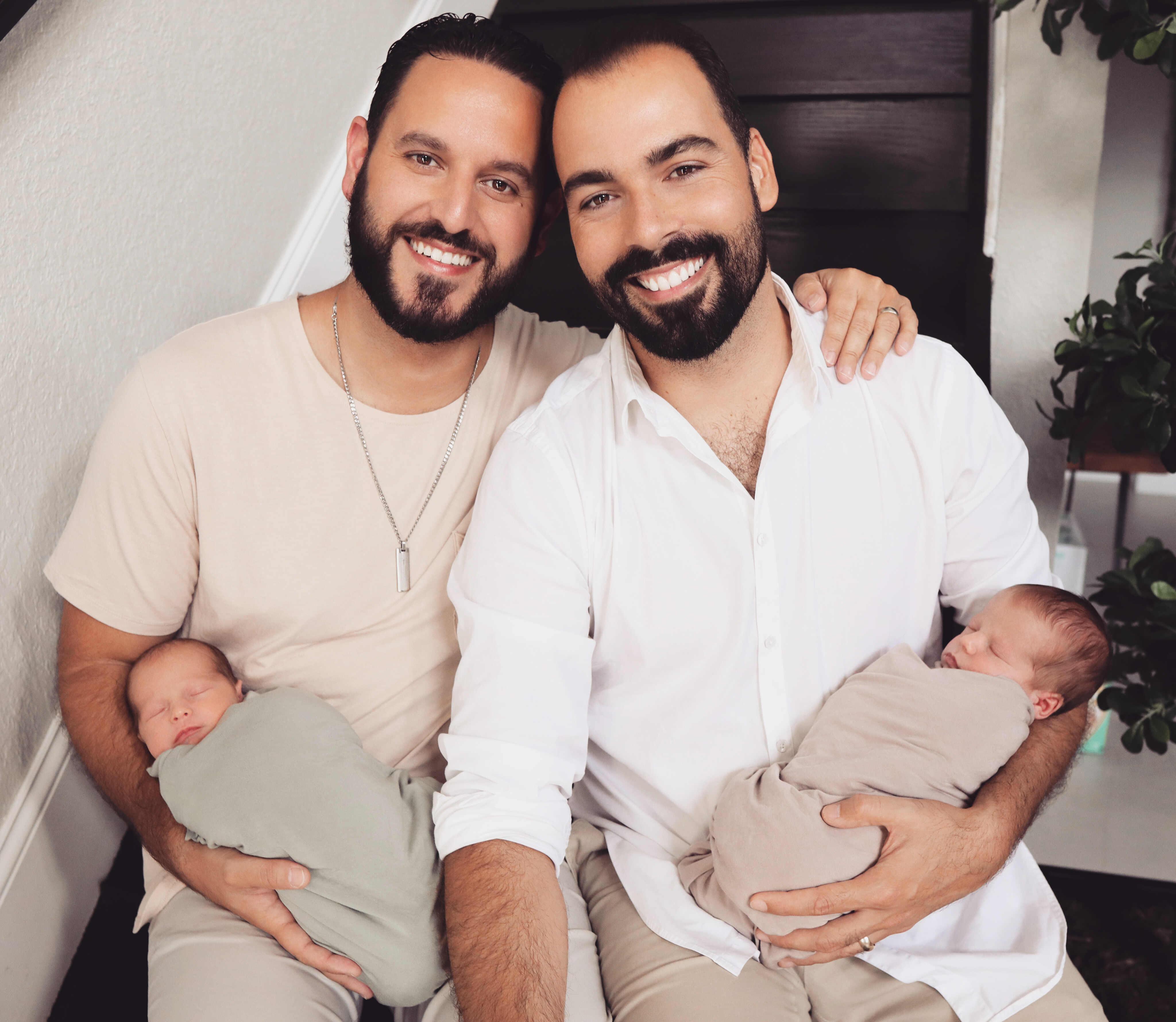 starting family through surrogacy twin boys
