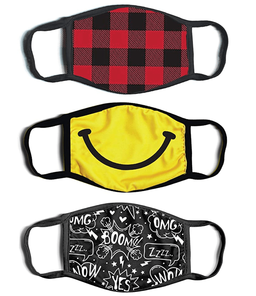 ABG 3 Pack Kids Fashionable Germ Face Mask