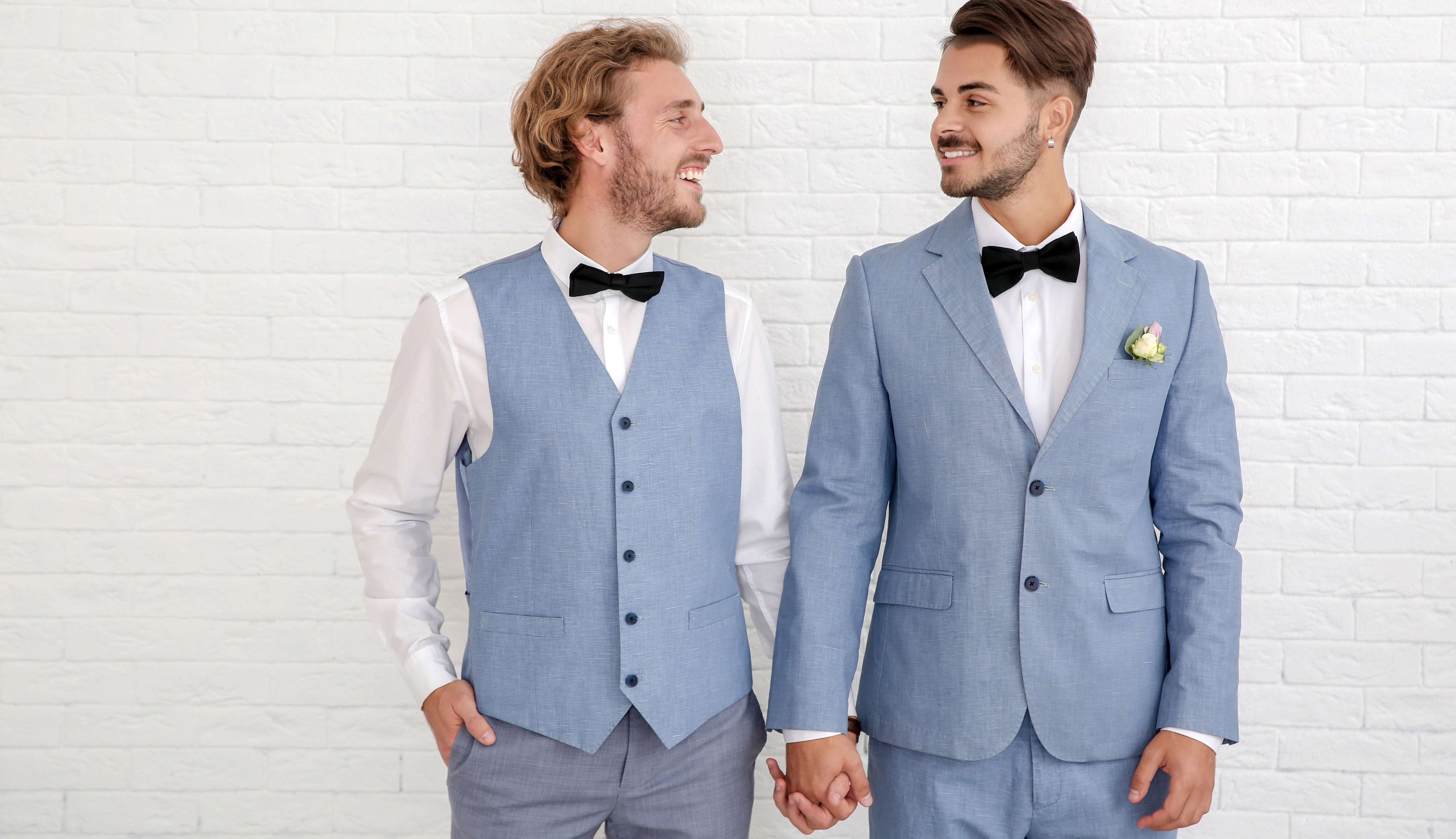 walk down the aisle together same sex wedding
