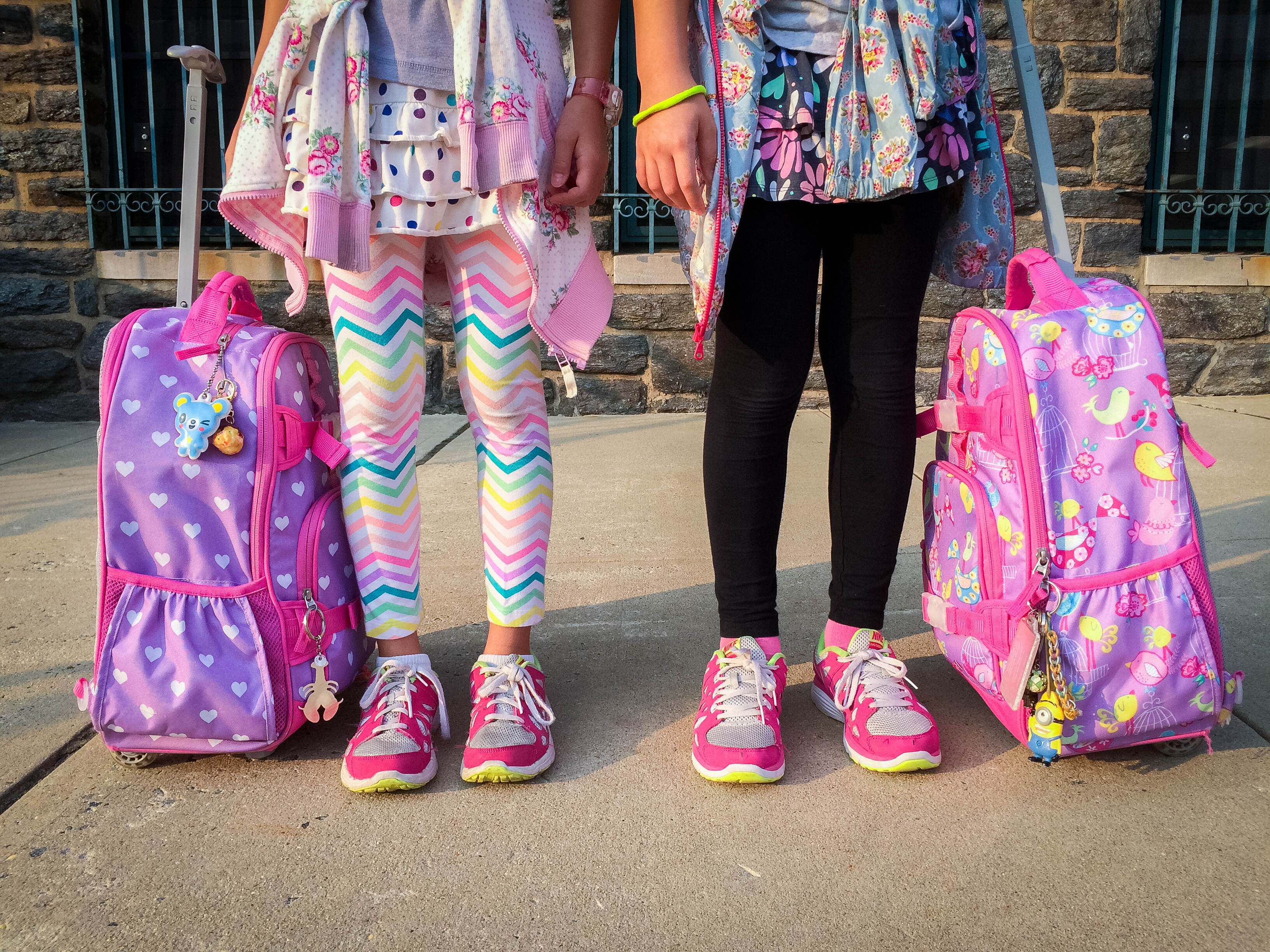 Kids rolling backpack