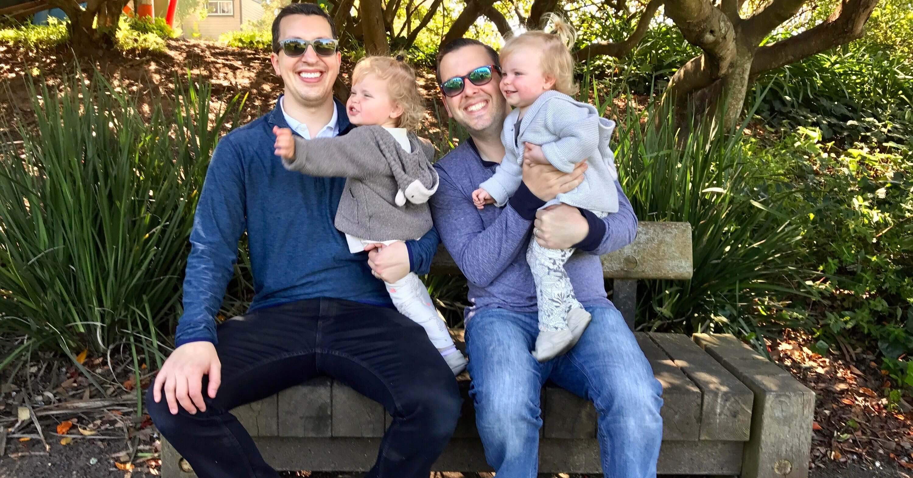 surrogacy was the path for fatherhood for these dads twin girls