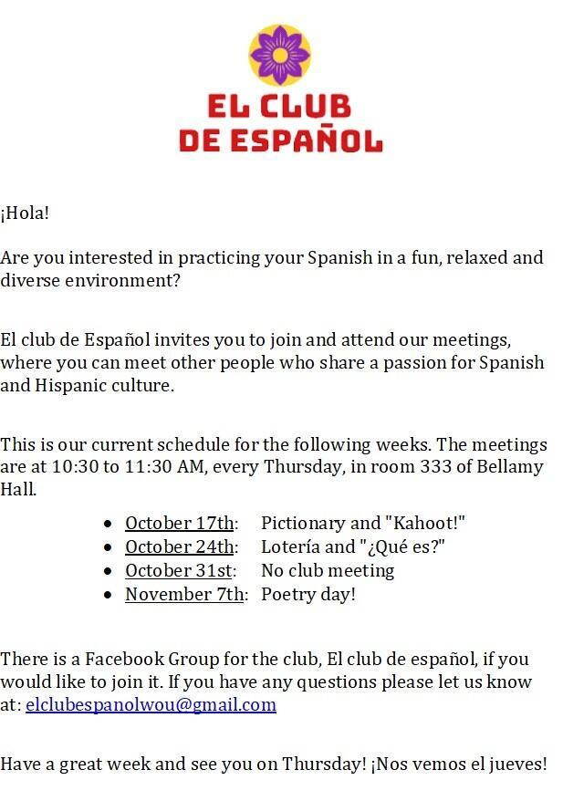 Spanish Club – Spanish