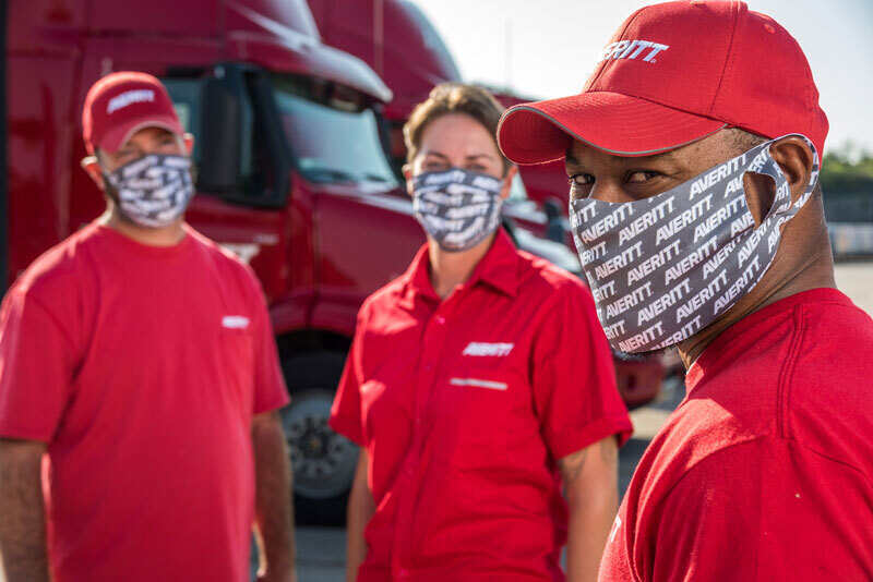 Averitt associates wearing Yukon Outfitters masks