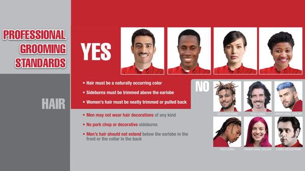 Professional Grooming Standard- Hair