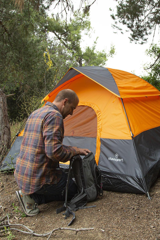Stansport Appalachian Dome Tent 84 L x 84 W x 48 H Orange