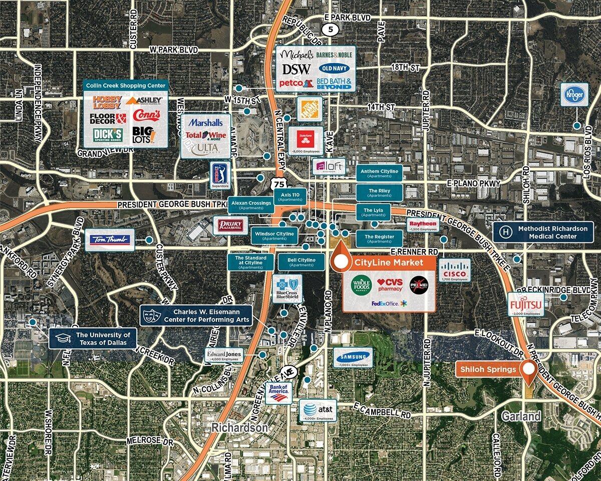 CityLine Market Trade Area Map for Richardson, TX 75082