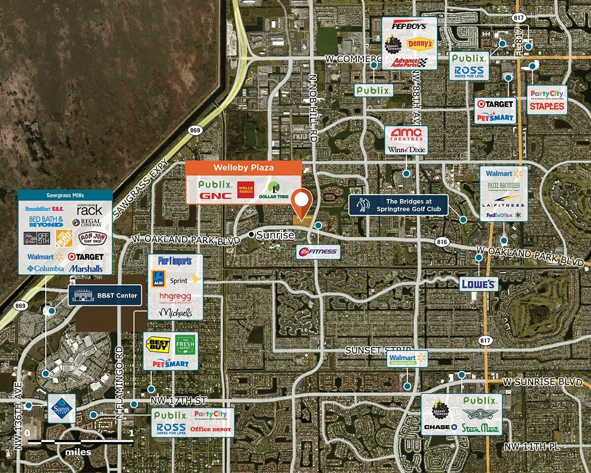Welleby Plaza Trade Area Map for Sunrise, FL 33351