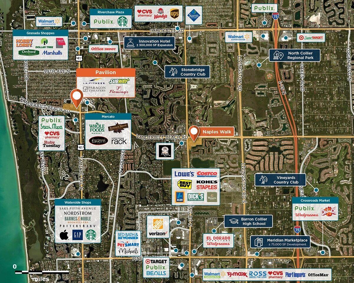 Pavilion Trade Area Map for Naples, FL 34108