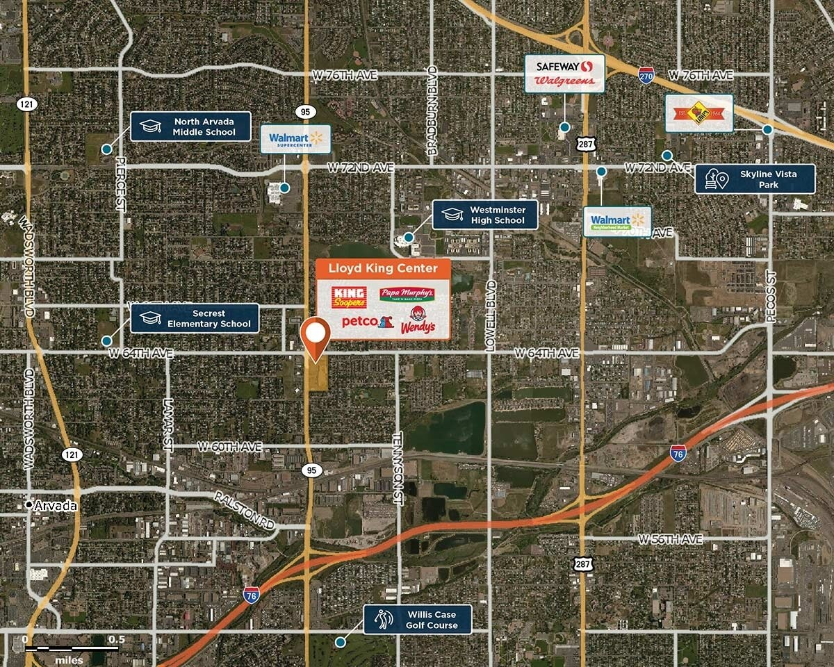 Lloyd King Center Trade Area Map for Arvada, CO 80003
