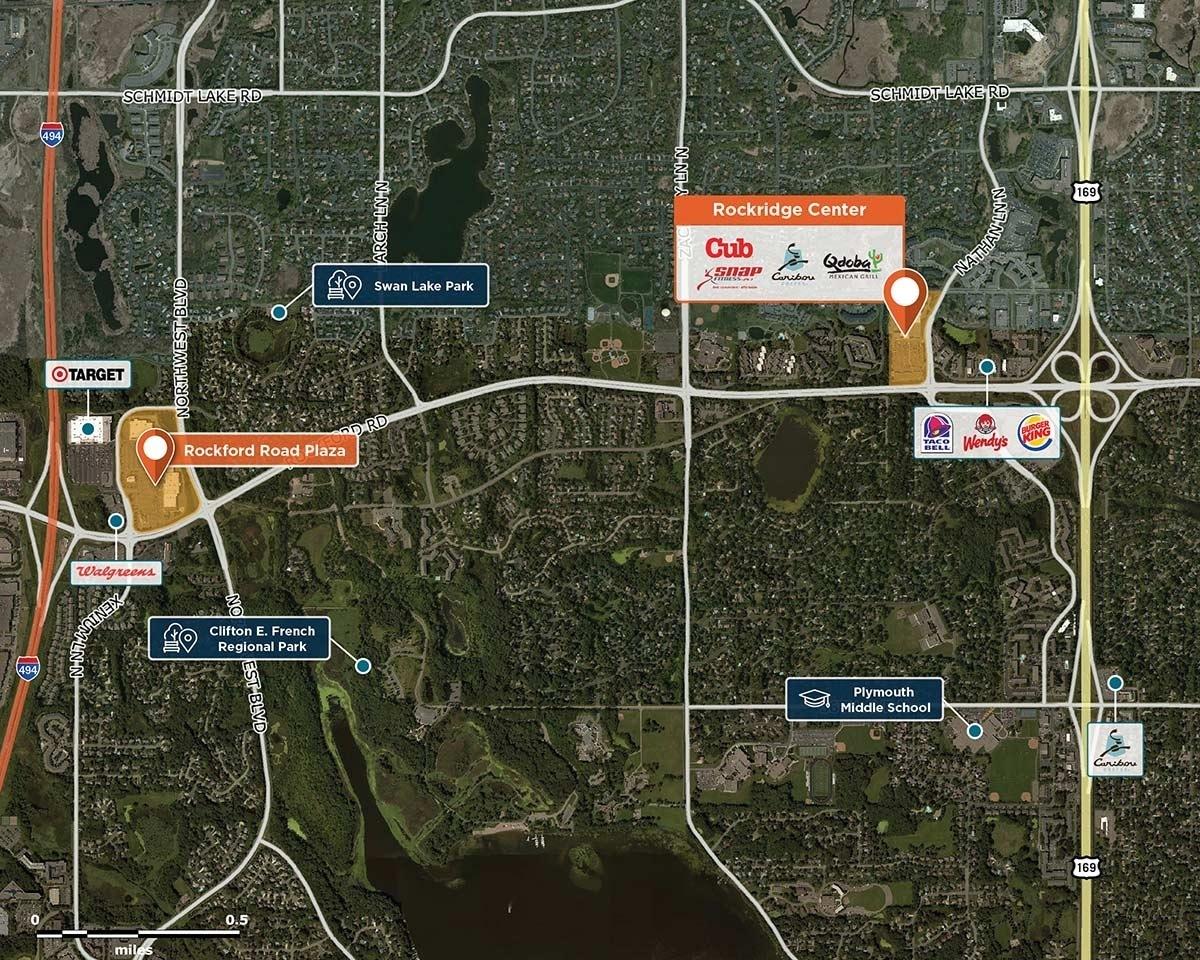 Rockridge Center Trade Area Map for Plymouth, MN 55442