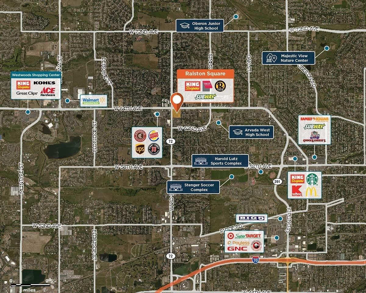 Ralston Square Trade Area Map for Arvada, CO 80004
