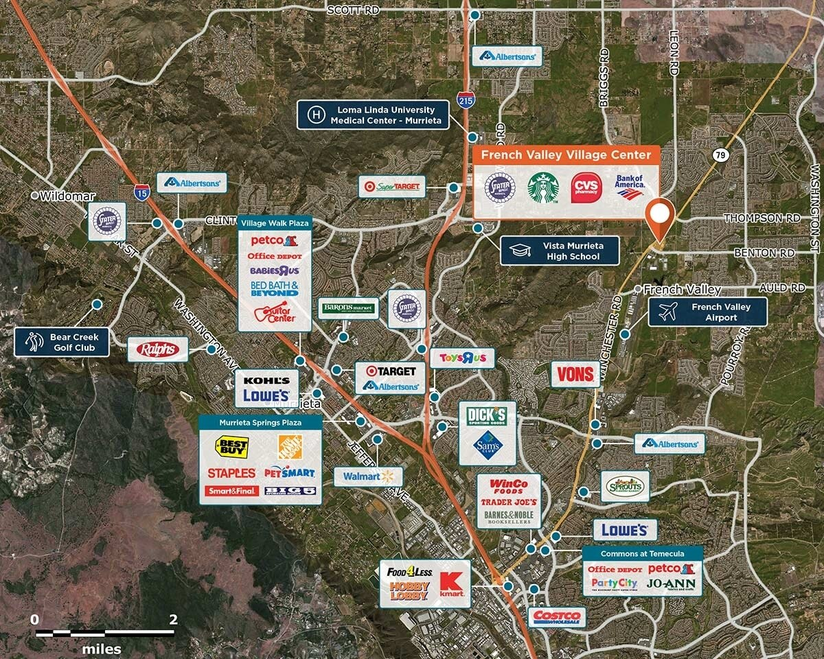 French Valley Village Center Trade Area Map for Winchester, CA 92596