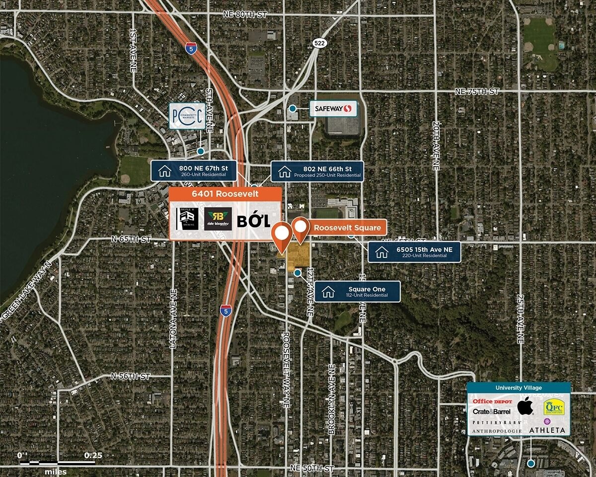 6401 Roosevelt Trade Area Map for Seattle, WA 98115
