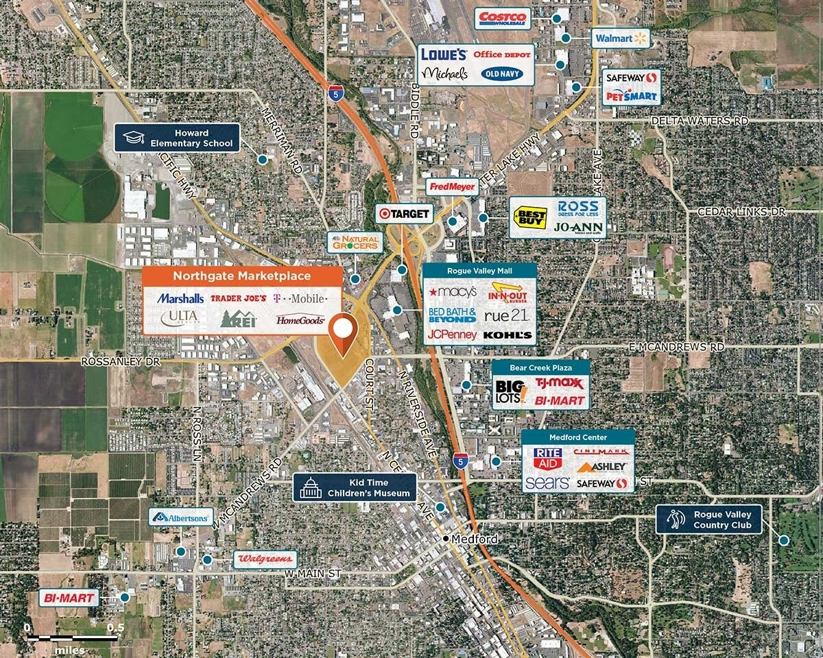 Northgate Marketplace Trade Area Map for Medford, OR 97501