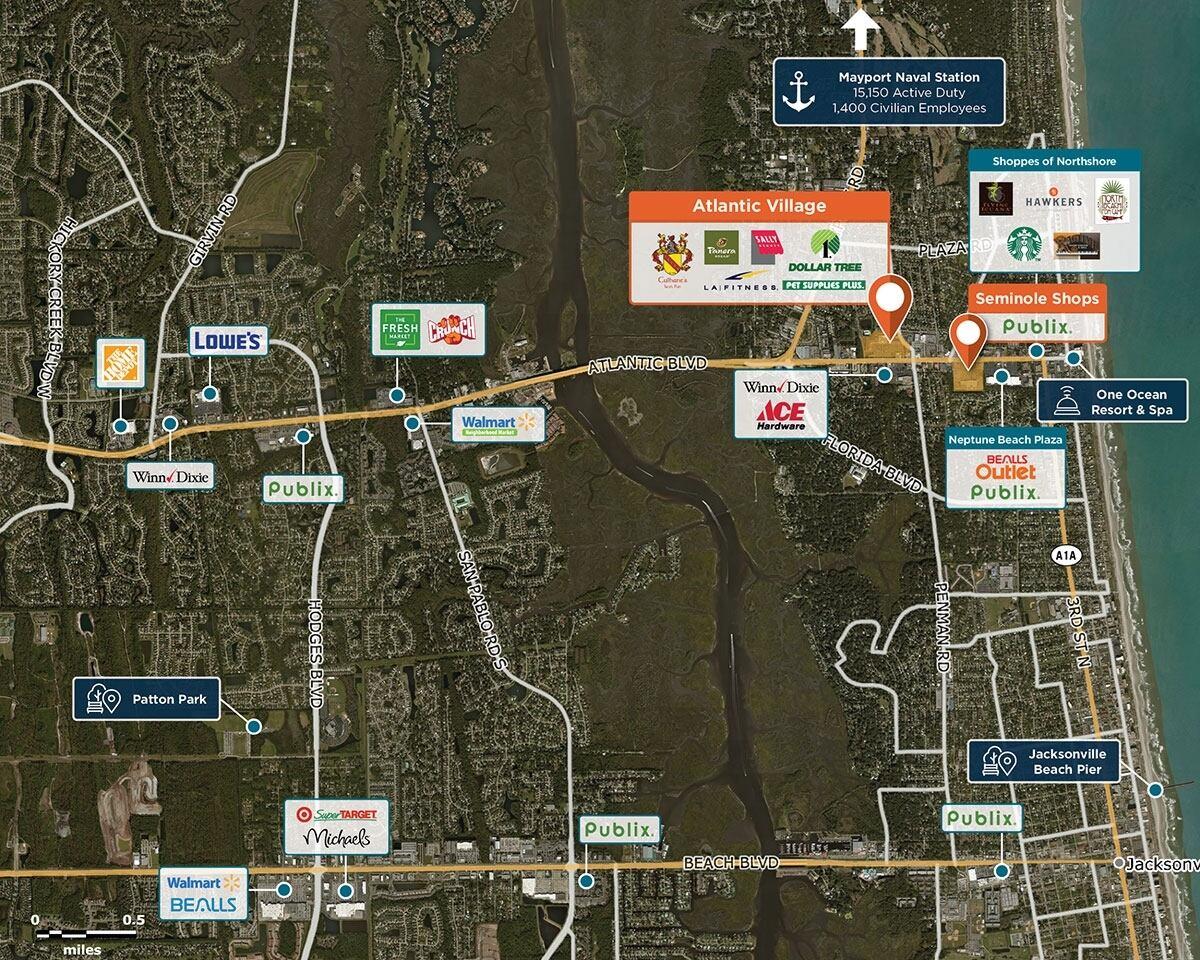 Atlantic Village Trade Area Map for Atlantic Beach, FL 32233