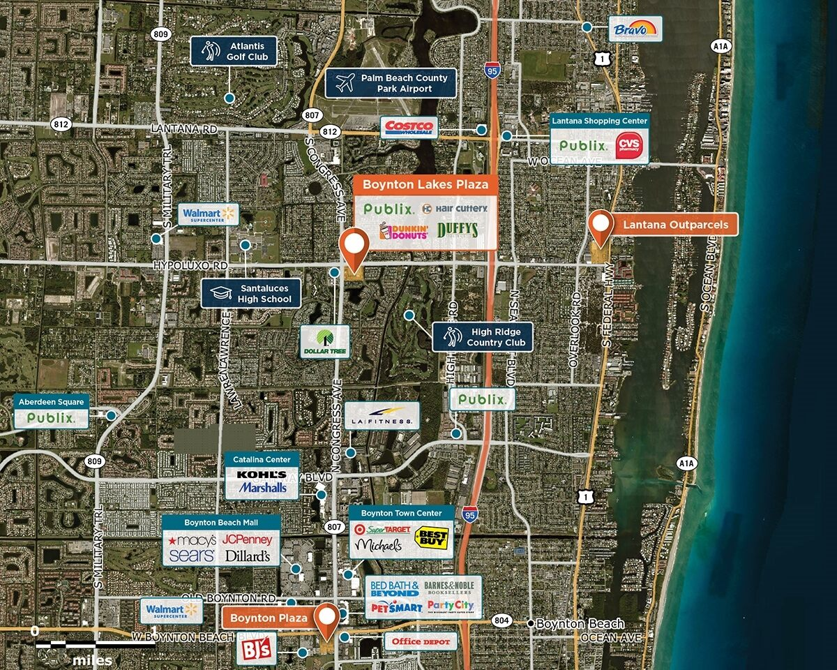 Boynton Lakes Plaza Trade Area Map for Boynton Beach, FL 33426