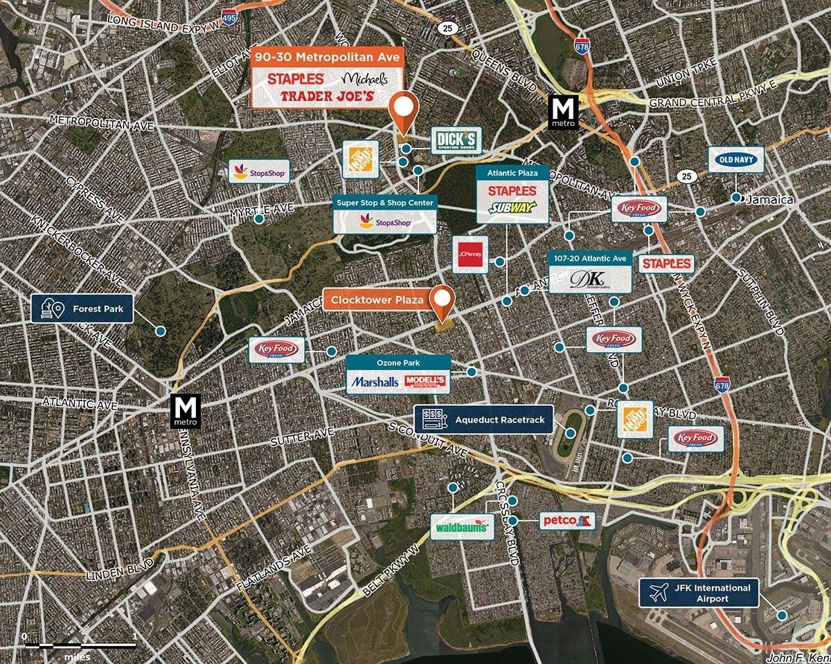 90 - 30 Metropolitan Avenue Trade Area Map for Rego Park, NY 11374
