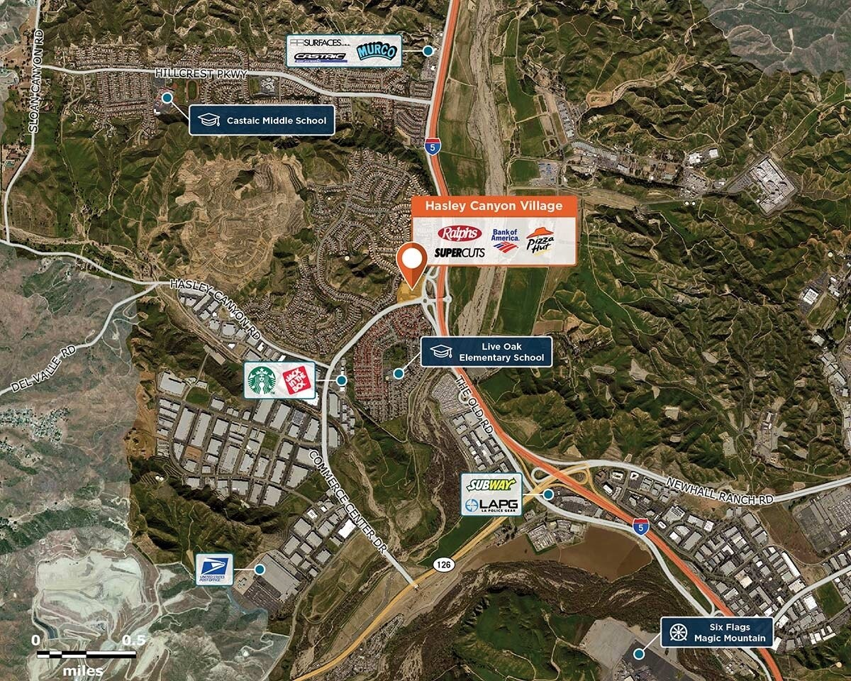 Hasley Canyon Village Trade Area Map for Castaic, CA 91384