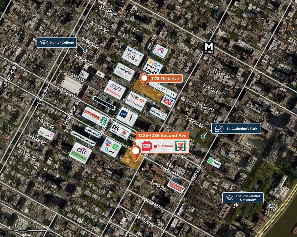 1225-1239 Second Ave Trade Area Map for New York, NY 10065