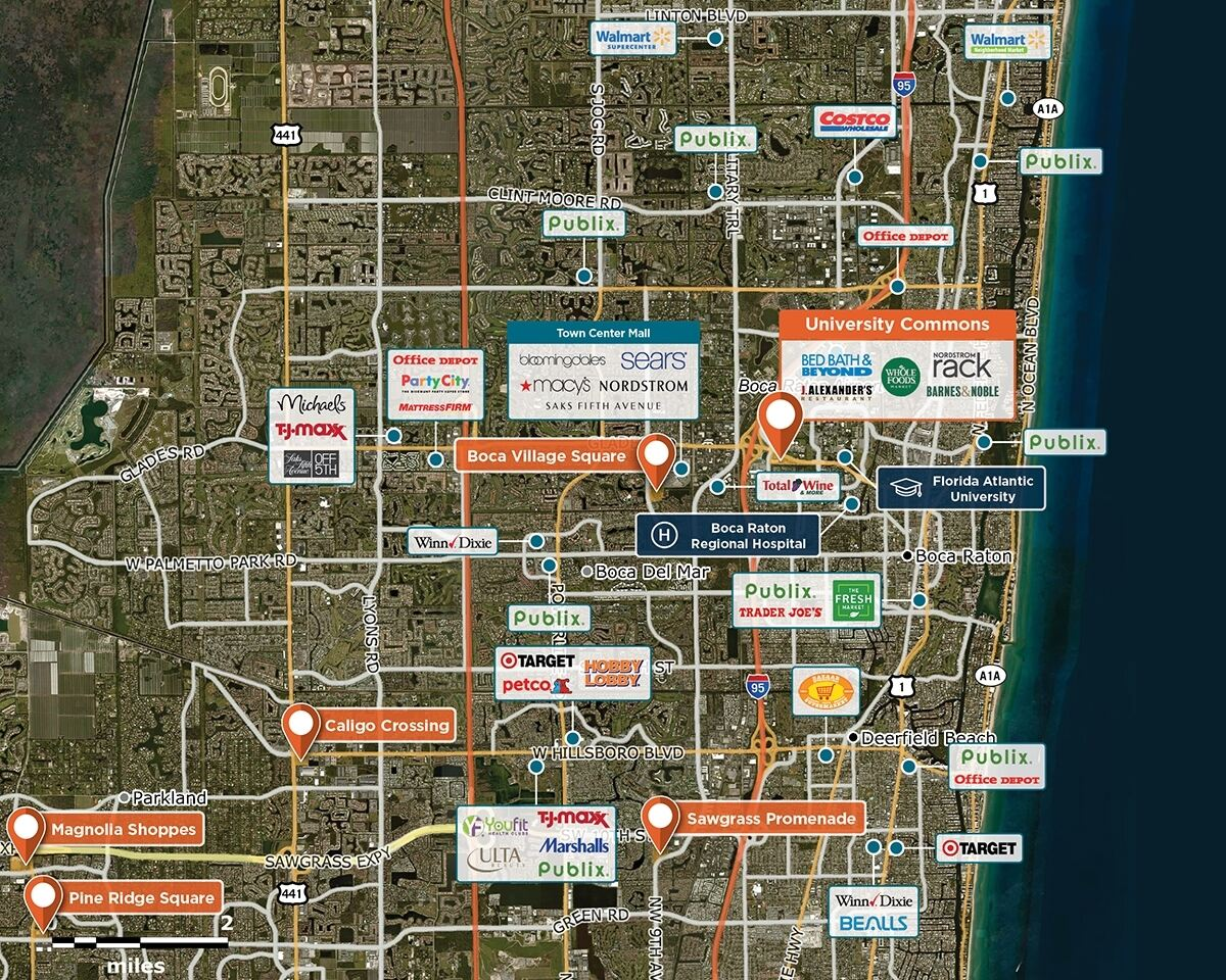 University Commons Trade Area Map for Boca Raton, FL 33431