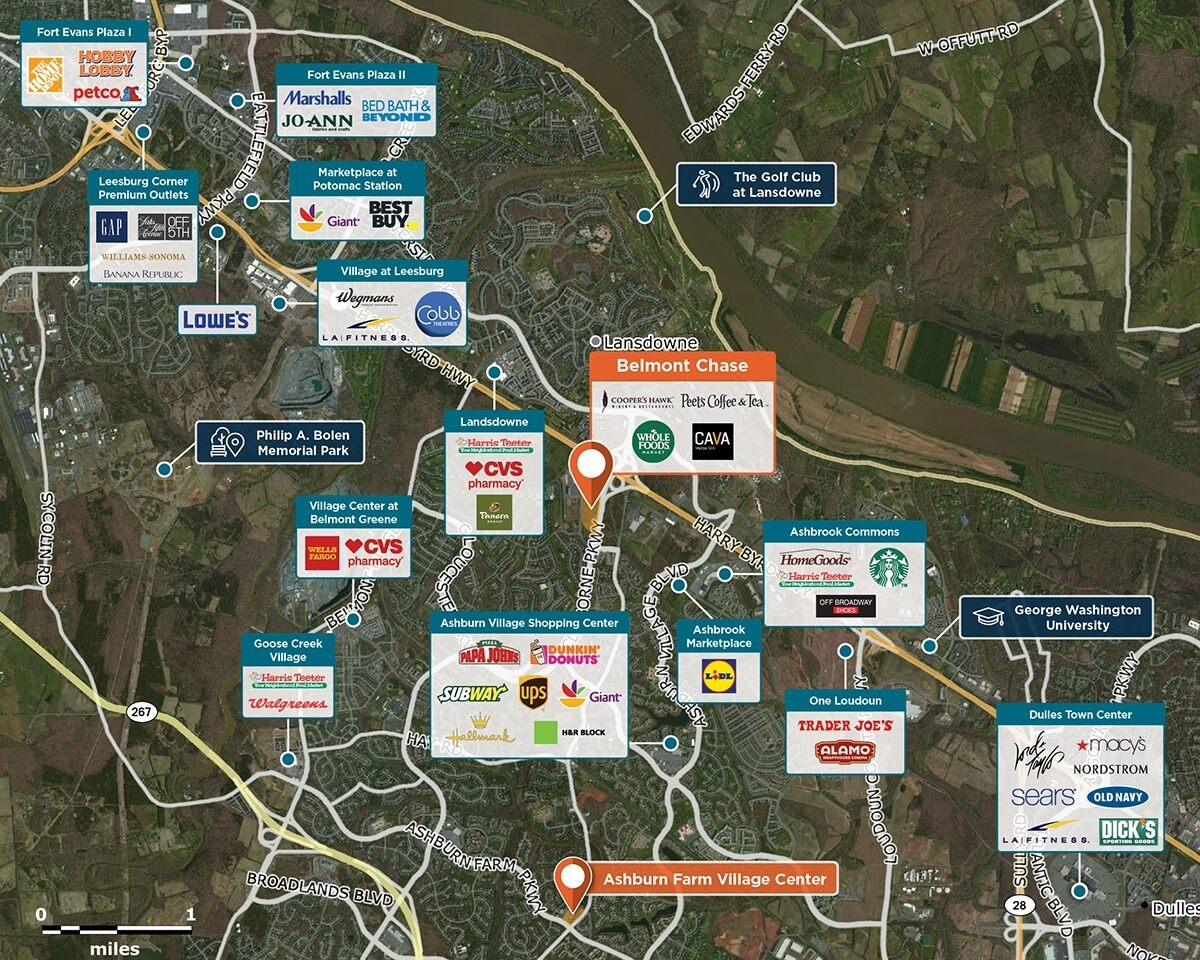 Belmont Chase Trade Area Map for Ashburn, VA 20147