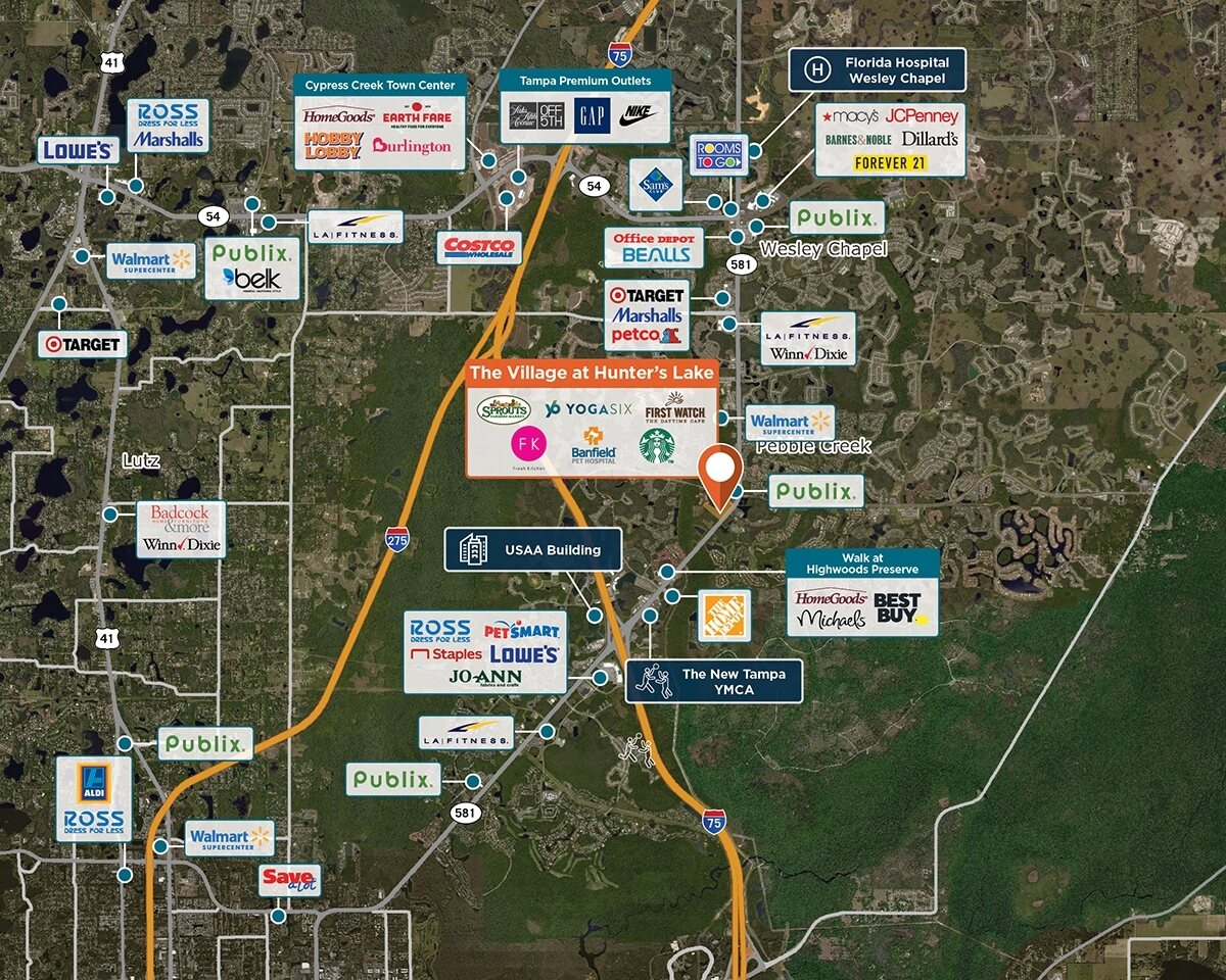 The Village at Hunter's Lake Trade Area Map for Tampa, FL 33647