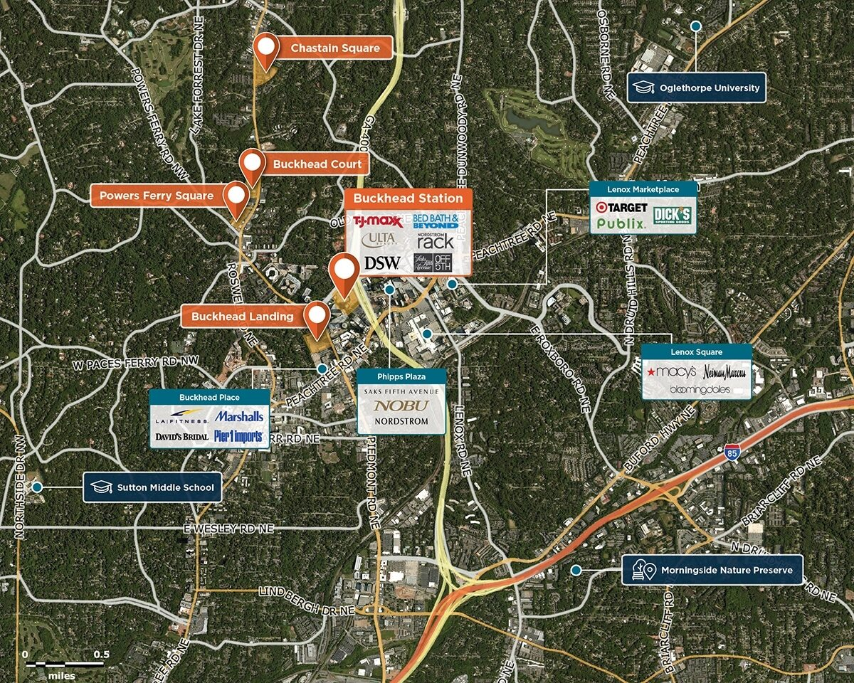 Buckhead Station Trade Area Map for Atlanta, GA 30326