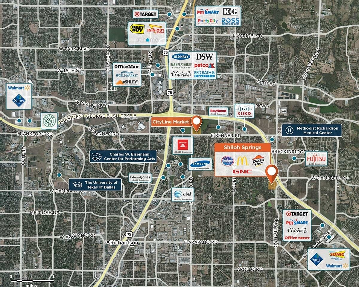 Shiloh Springs Trade Area Map for Garland, TX 75044