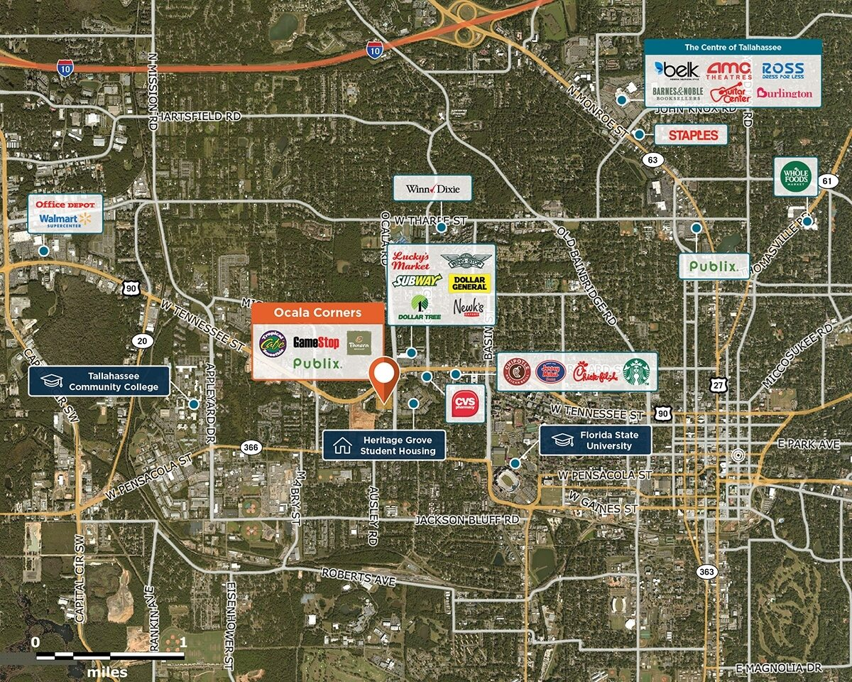Ocala Corners Trade Area Map for Tallahassee, FL 32304