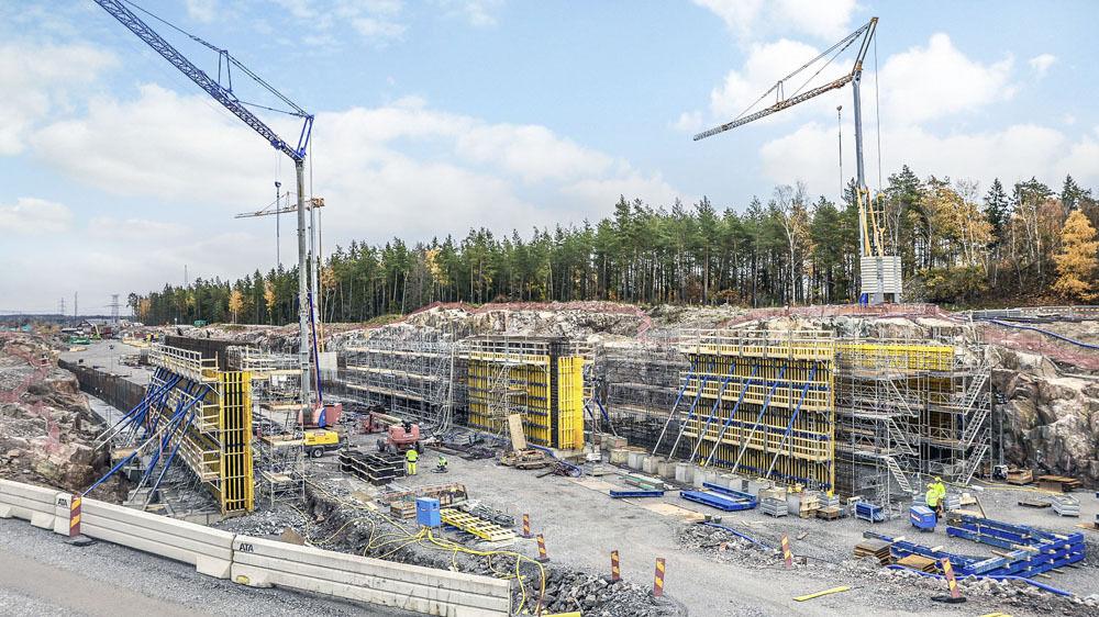 : يجري التخطيط لبناء نفقين خرسانيين وأربعة جسور وجدران داعمة وعزل للحريق والصوت في هاجفيك (1-6 ، الصور مقدمة من Doka