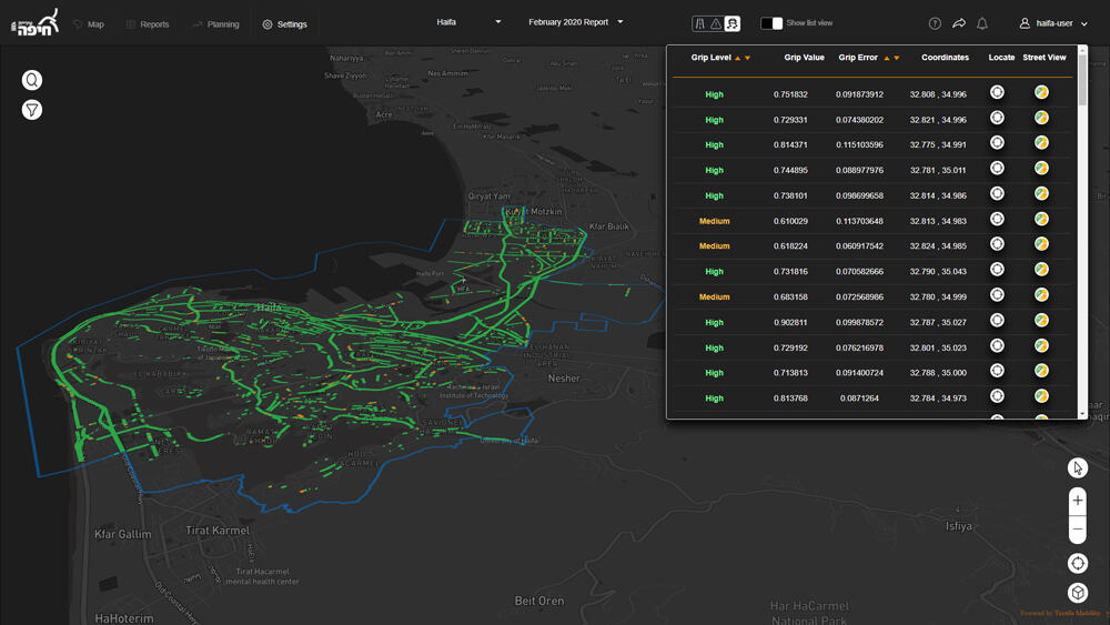 An automatically created crowdsourced map that shows road friction can be used to locate and treat slippery roads.