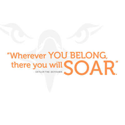 Wherever you may belong, there you will soar