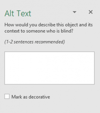 Add alt text menu