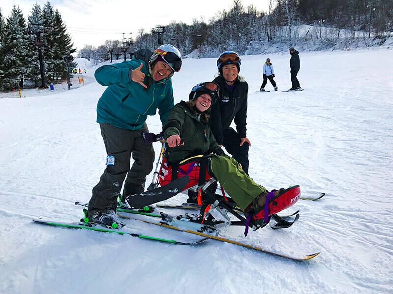 Students volunteer at annual Adaptive Ski Week at Beech Mountain Resort