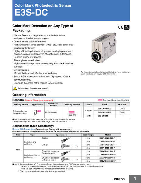 Color Mark Detection on Any Type of Packaging.