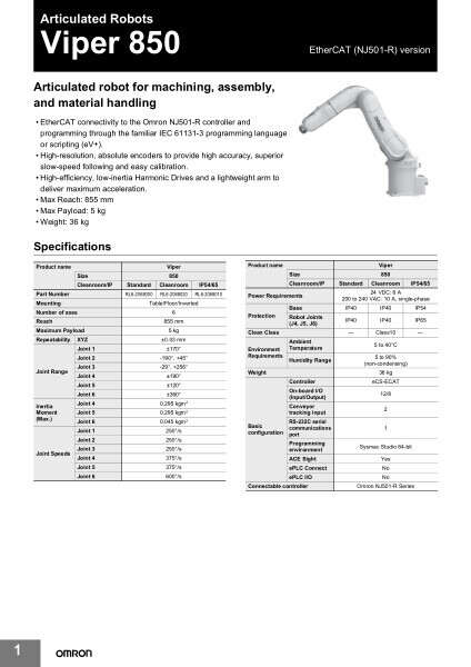 Articulated robot for machining, assembly, and material handling