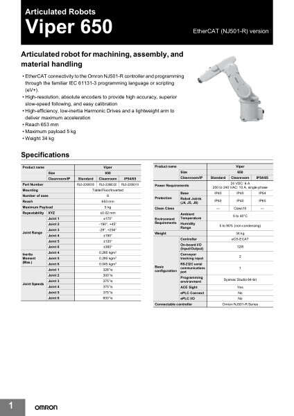 Articulated robot for machining, assembly, and material handling.
