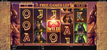 Wonders of Egypt Jackpot King Deluxe Slot
