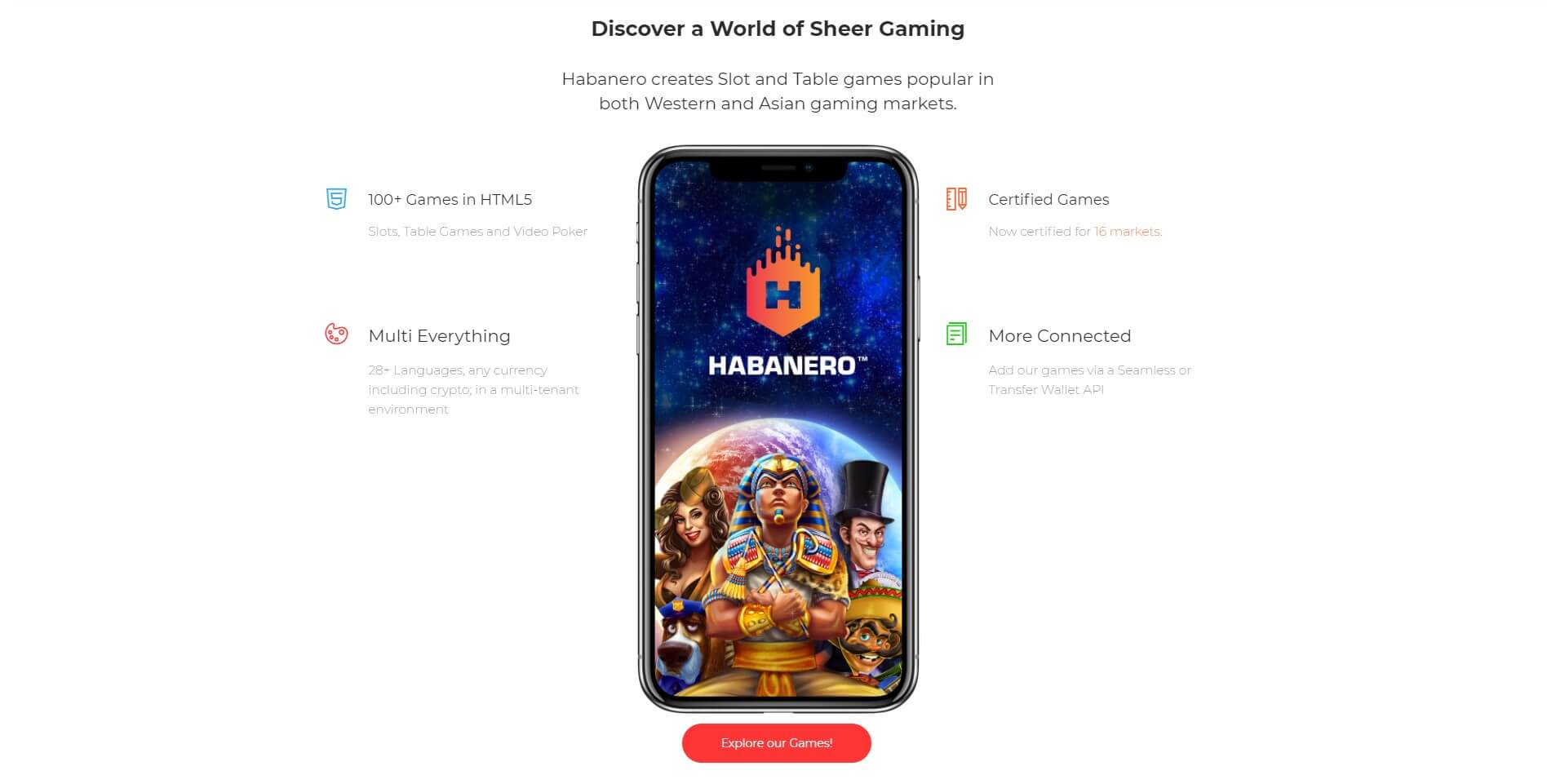 habanero gaming mobile experience