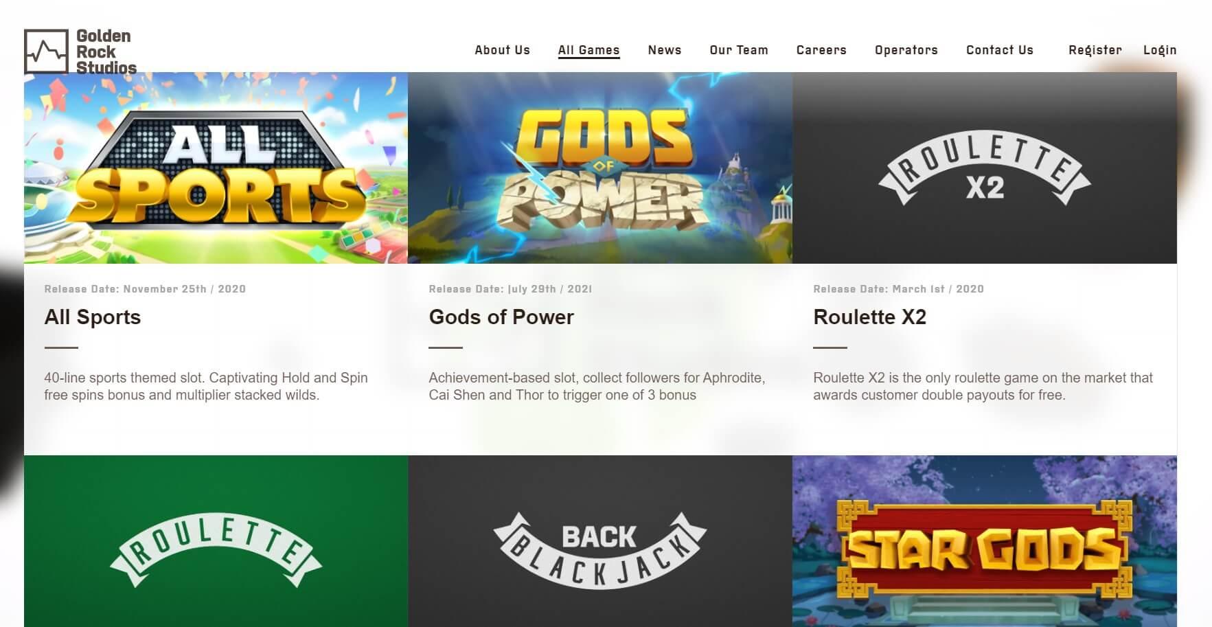 golden rock studios games