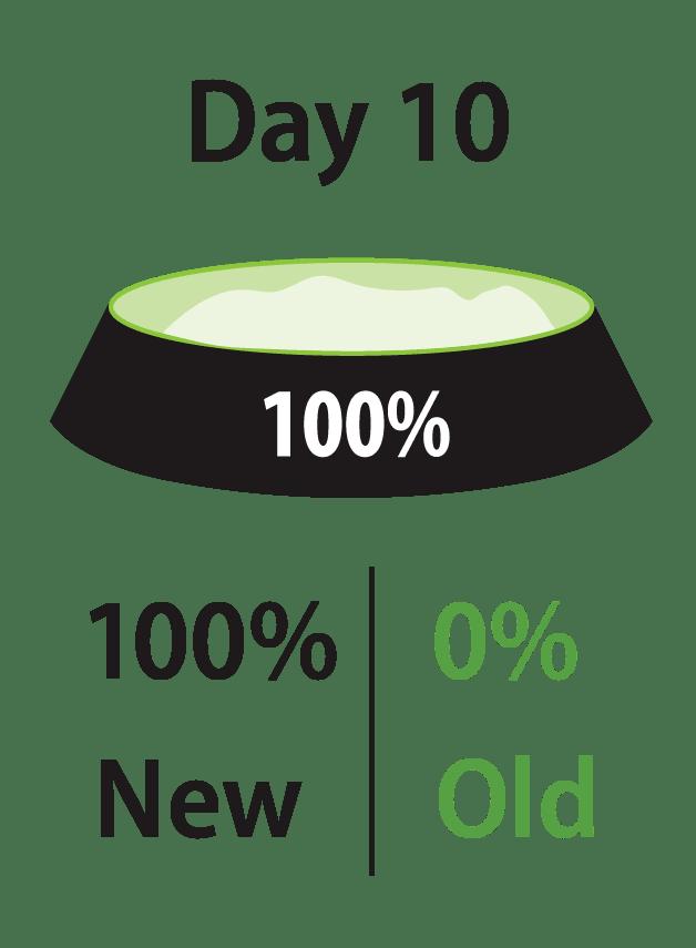 第10天:100%新食品,0%旧食品